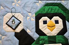 Penguin Quilt Pattern AND Matching Mini Cross by CountedQuilts, $10.00
