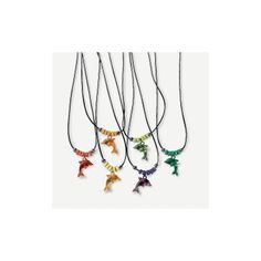 Dolphin Necklaces - OrientalTrading.com. Favors for the dolphin-themed pool party!