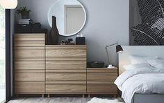 Nuevas cómodas Ikea 2015 para el dormitorio: Conoce OPPLAND, NORNÄS, ASKVOLL y NORDLI .Sinfonieres baratos de 3 a 8 cajones, con un estilo moderno y escandinavo.