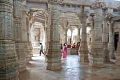 Behold the marble Jain temple of Ranakpur, India, said to be one of the most spectacular temples of its kind. It contains more than 1,440 marble pillars, and no two are the same.