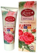 Crema piedi Natural Rose,con estratto naturale di rosa,Q10