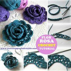 como se teje una flor al crochet
