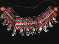 Beautiful vintage style Afghani tribal dancer belt, with ties to fit all sizes. The body of this belt measures 34 inches from end to end and