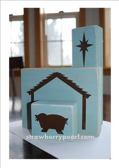 strawberrypearl studios: New Product: Nativity Blocks
