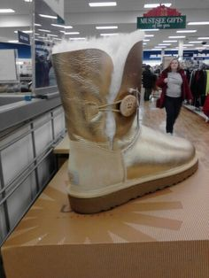 Gold uggs I saw at Marshells<3 only $99-