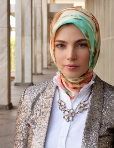 Love the layers, colors, and textures together.  from Haute Hijab