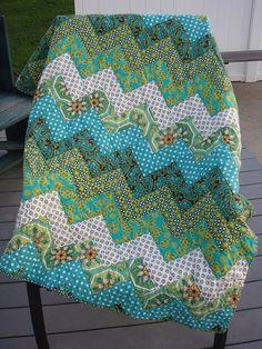 Ginger Blossom zigzag quilt by ktraver8, via Flickr