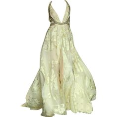 Tony Ward - edited by mlleemilee ❤ liked on Polyvore featuring dresses, gowns, long dresses, vestido, green ball gown, long green evening dress, green evening dresses and green dress