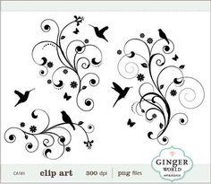 Simple Swirl Designs png | Flower Swirl clip art - vector ...
