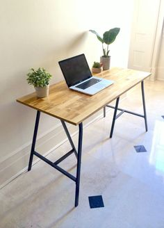 Long Narrow Desk/ Table on Ikea Legs. CHOOSE ANY SIZE! Free shipping