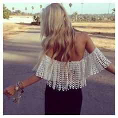 Off the shoulder knits.