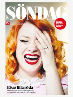 DN Söndag (DN Sunday) is this newspaper. I really love the pops of color on this…