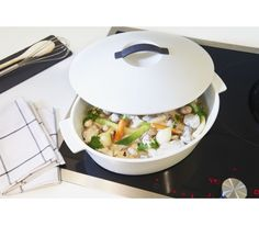 Garnek ceramiczny REVOLUTION 32 cm owalny - czarna pokrywa / Revol obiad