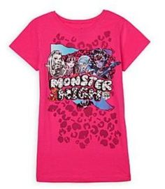 MONSTER HIGH Ghouls And Pets  GIRL'S SHIRT NEW with tags