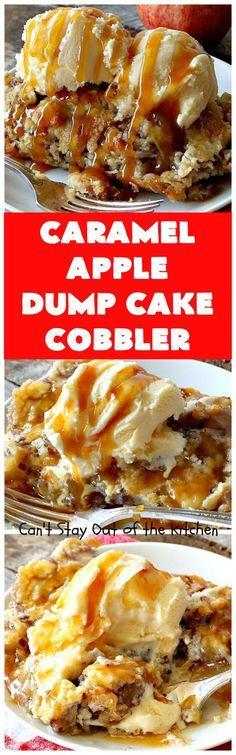 Caramel Apple Dump Cake Cobbler