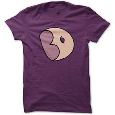 Big Donut Steven Universe T-shirt ($22) ❤ liked on Polyvore featuring tops, t-shirts, cotton logo t shirts, purple tee, logo tees, logo t shirts and cotton t shirts