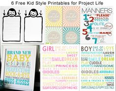6 Kid Style Printable Freebies for Project Life