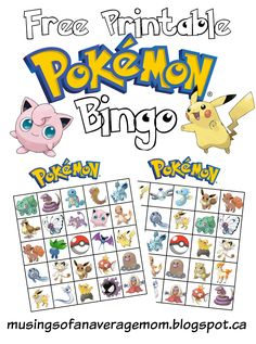 pokemon bingo                                                                                                                                                                                 More