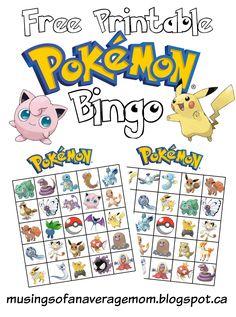 pokemon bingo
