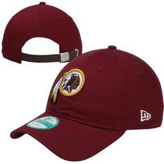 6c55224bcf4 New Era Washington Redskins Basic Logo 9FORTY Adjustable Hat - Burgundy