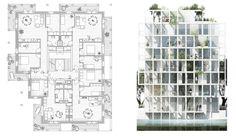 Lejlighedsplan og facadeudsnit