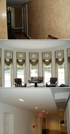 This company does all types of wall finishes and coverings. They repair plasters, spackle, patch and paint rooms. They specialize in faux finishes such as stuccos, metallics, glazing and texturing.