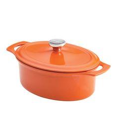 Love this Orange 3.5-Qt. Oval Dutch Oven on #zulily! #zulilyfinds