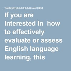 If you are interested in how to effectively evaluate or assess English language learning, this collection of papers – the proceedings from the British Council East Asia Regional Symposium on Assessment and Evaluation – is essential reading.