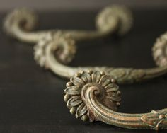 Drawer Pulls - Ornate Vintage Furniture Hardware - Set of Three