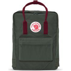 Kånken Backpack - Forest Green/Ox Red