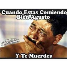 Cuando comes bien agusto y te muerdes #makemelaugh #mexicanhumor