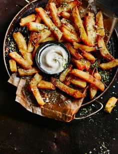 This is the ultimate chip recipe. By double-cooking the chips, it makes them extra-crispy.