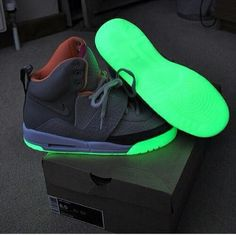 best cheap 4e70c c59bb Nike Air Yeezy s glow in the dark!