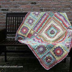 Crochet Square Blanket, Crochet Blocks, Granny Square Crochet Pattern, Afghan Crochet Patterns, Crochet Squares, Crochet Motif, Crochet Afghans, Granny Squares, Knit Crochet