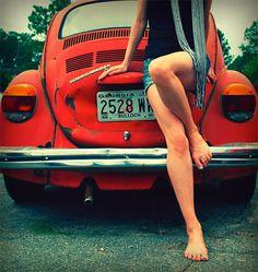 VW  -  Even though my orange bug was a piece, I still will always love them. <3