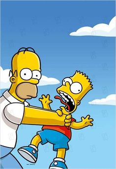 Homer and Bart Simpson Wallpaper Iphone, Funny Iphone Wallpaper, Funny Wallpapers, Cartoon Wallpaper, Simpsons Characters, Classic Cartoon Characters, Classic Cartoons, Homer Simpson, Simpsons Drawings