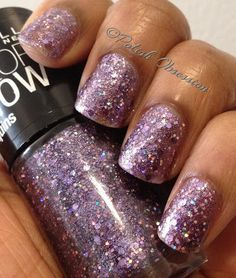 Lavender Sparks has a sheer light purple base with lavender hex glitter, small holographic glitter, and silver microglitter