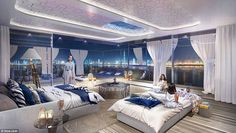 The Floating Seahorse villas will cost between £2.15m and £2.5m and are anchored at the heart-shaped St Petersburg island