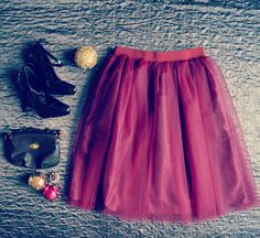 Wine classic handmade tulle skirt. Order by message or visit my shop https://www.facebook.com/cheremyha.store