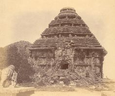 TIL King Narashimadeva of the Ganga Dynasty of Ancient India used a 52 ton magnet to suspend a large idol of the Sun God in the air above the temple in Konark India and was destroyed by the Portuguese because it interfered with their ships compasses. Indian Temple, Hindu Temple, Ancient Architecture, Amazing Architecture, Archaeological Survey Of India, Indian Art Paintings, British Library, Stone Carving, Old Photos