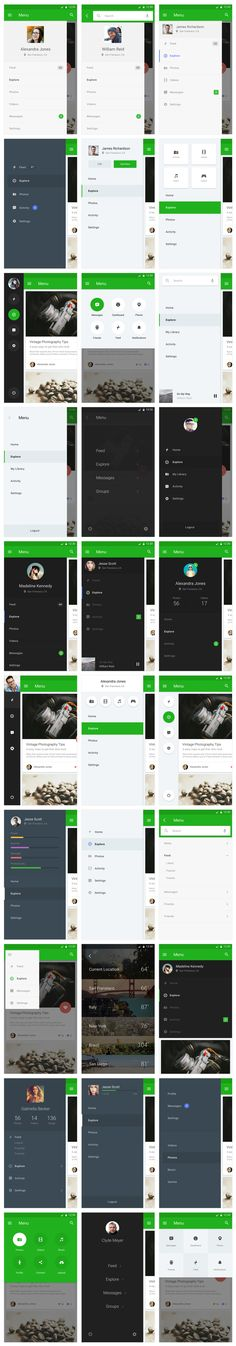 Material Design UI Kit on Behance Web Design, App Ui Design, Interface Design, User Interface, Android Material Design, Android Design, Application Mobile, Application Design, Design Thinking