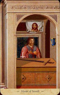 King of Swords- Grail Tarot by John Matthews, Giovanni Caselli