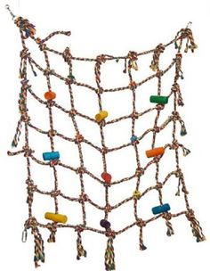 Parrot Bird Toy Climbing Net Play Gym #funmax
