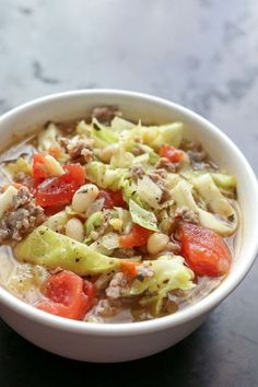 Italian White Bean, Cabbage, and Sausage Soup - CountryLiving.com