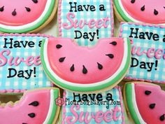 Flour Box Bakery — How to Decorate a Watermelon Slice Cookie