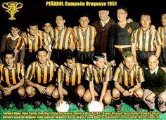 EQUIPOS DE FÚTBOL: PEÑAROL Campeón de la Liga de Uruguay 1951