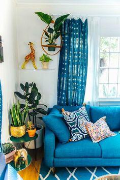 Boho interior. Living Room.