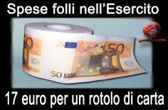 Sprechi al ministero della Difesa: 17 euro per un rotolone di carta  Duemila rotoli di carta assorbente pagati 34.300 euro più Iva...http://goo.gl/EVGr73