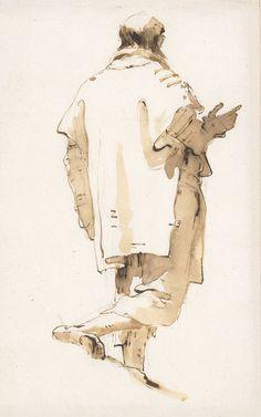 G. Tiepolo, Walking Man