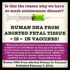 Human DNA in vaccines